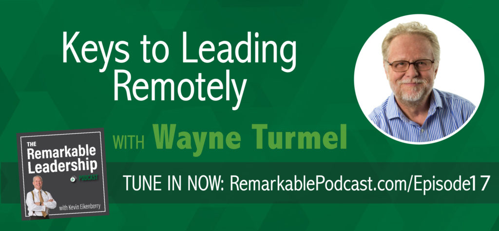 What does it take when leading remotely? Is it really more challenging than managing in-house? Today's guest, author and co-founder of The Remote Leadership Institute, Wayne Turmel, sheds some light on the unique aspects of leading remotely, and offers insightful tips on how you can successfully handle the challenges that remote leaders face daily. Today's episode is definitely not one you want to miss, regardless of your leadership situation!