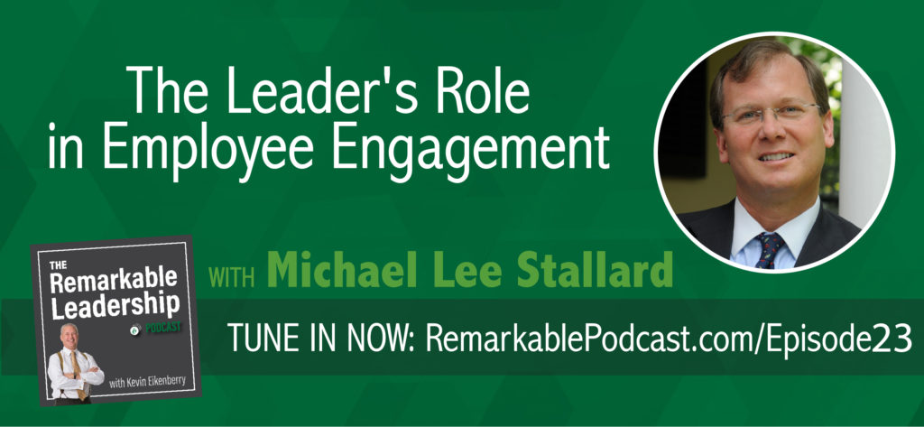 "Are you encouraging engagement in your workplace? In today's episode of the Remarkable Leadership Podcast, co-founder of E Pluribus Partners and author of ""Fired Up or Burned Out: How to Reignite Your Team's Passion, Creativity and Productivity,"" Michael Stallard discusses the leader's role in employee engagement, why culture is ESSENTIAL to the workplace, and how you can create engaging connections with your employees, regardless if your role in the workplace. Join us for this ""engaging"" discussion that might just change your thinking about employee engagement!"
