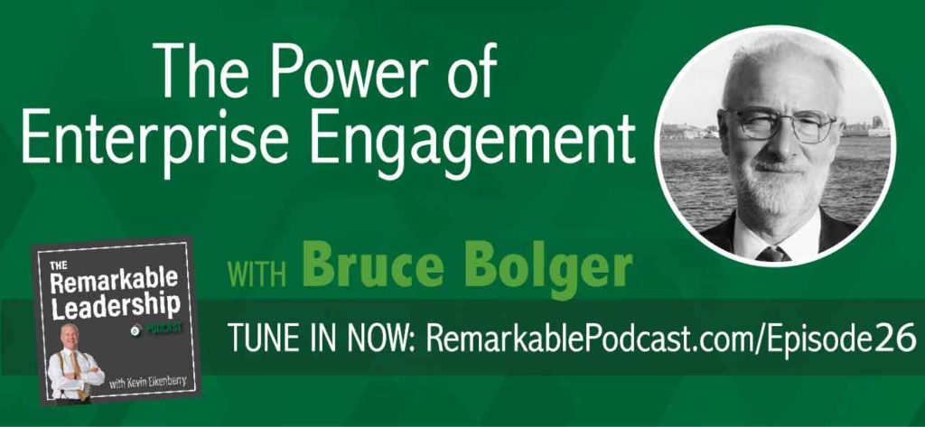 "Want better business results and success? Then today's episode is one you won't want to miss! Join Bruce Bolger, ""Mr. Engagement,"" and Managing Director of EEA,the Enterprise Engagement Alliance, as we discuss what REAL engagement means, and how fostering proactive involvement with others will get you on the fast track to sustainable success!"