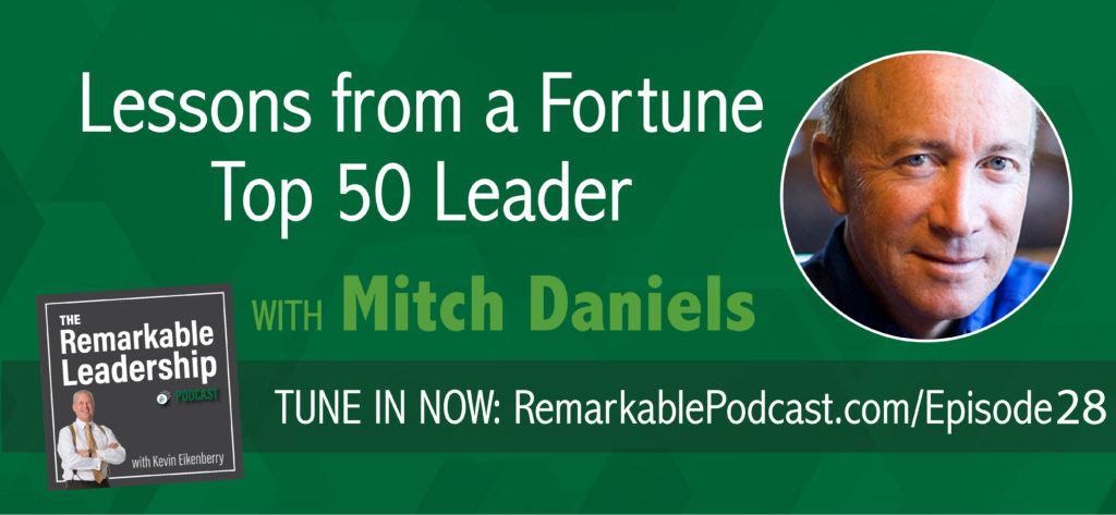 If you're interested in leadership, this is one episode you CANNOT afford to miss! Join Mitch Daniels, president of Purdue University and former governor of Indiana, as he discusses what it takes to be ranked in Fortune Magazine's Top 50 World Leaders.