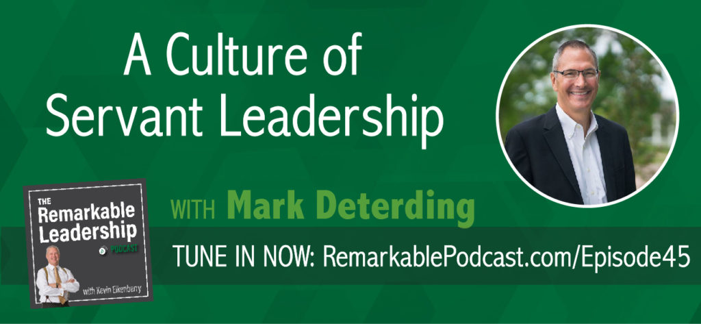 Mark Deterding, founder and principal of Triune Leadership Services, works with organizations and individuals to create a culture of servant leadership. In this episode, Kevin and Mark discuss how high performing leaders continue to assess each individual and build energy accordingly. They also look at emerging leaders and how they can enter the role with humility.