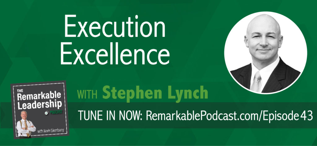 "It's great to have goals and they will most likely fail without execution, according to Stephen Lynch. Stephen is the Head of Strategy and Consulting at RESULTS.com, a business productivity software platform. Stephen and Kevin discuss key elements for successful execution and how to find that ""bigness balance"". Stephen also advises on how to create a core value statement, which can help lead to accountability."