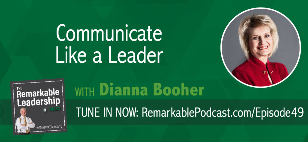 What are you working on? This is a question leaders and potential leaders are asked all the time. Simple enough and your answer needs to show connection. Today Kevin is joined by Dianna Booher. Dianna is the author of 47 books and Founder of Booher Consultants, a communication training firm, and then more recently founder of Booher Research Institute. They discuss aspects of strategic communication, leadership, connection and humor in the workplace.