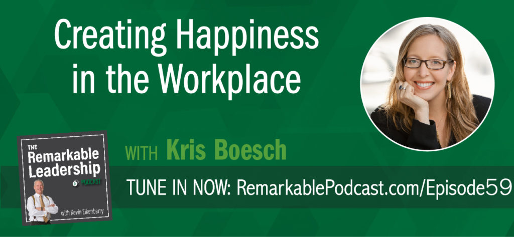 Company culture has become a bit of a buzzword and your culture does impact the bottom line. Today, Kevin is joined by Kris Boesch, CEO and founder of Choose People and Author of Culture Works: How to Create Happiness in the Workplace. Kris shares her thoughts about culture and research surrounding why they chose to measure happiness. She also provides some real-world examples and ideas on how to shift your culture.