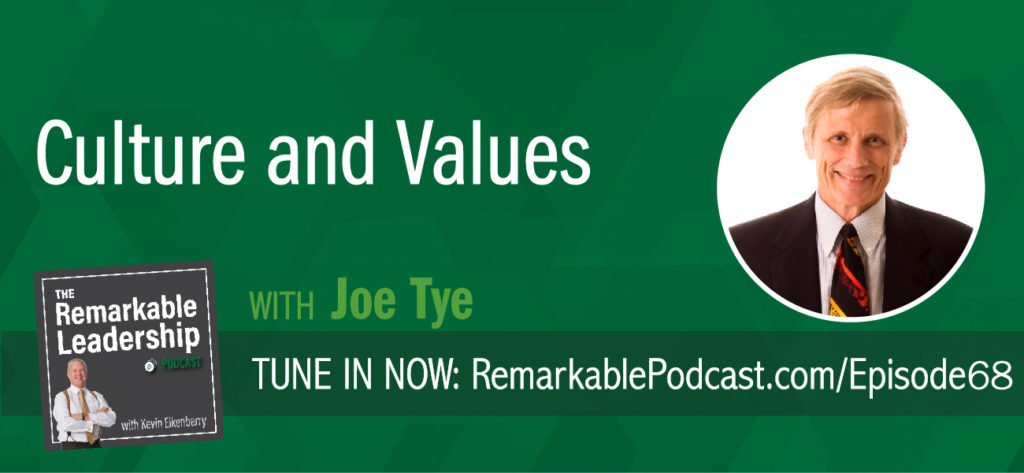 Culture, values, and ownership are words organizations use every day. Do you really know what they mean for, your team, and your organization? Kevin and Joe Tye, author and CEO and Head Coach of Values Coach, discuss corporate culture. Joe challenges us to think about corporate values and define your culture in 6 words. These need to be intentional and unique to create the workplace you want.