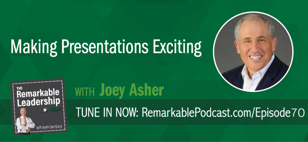 The dreaded presentation. The word may cause you to feel some anxiety because you are the presenter or you because you are in the audience. Today, Joey Asher, author and coach, talks about going beyond the presentation. Leaders at all levels need to give more than just the data. Their audience, their listeners, their employees, need the story behind the data to make a real connection.