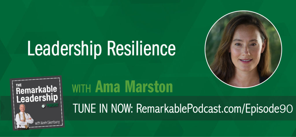 How do we use moments of stress to create something better? Ama Marston is co-author (with her mom) of Type R: Transformative Resilience for Thriving in a Turbulent World. She joins Kevin to discuss challenges; personal, professional, and global and skills you need to hone to bounce back. Type-R's look to turn challenges into opportunities and find ways to grow from experiences.