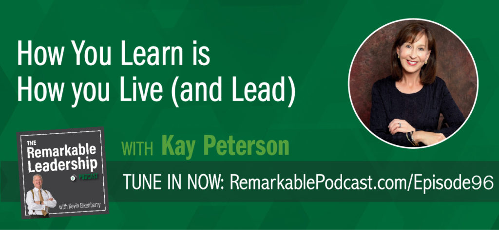 Leading and learning are hooked together; not surprising or new information. Kay Peterson, founder of the Institute for Experiential Learning and co-author of How You Learn is How You Live joins Kevin to discuss how we can increase our capability to learn from the experiences throughout our lives. Kay talks about learning styles and how they can be applied to not only be a more effective learner, but also a more effective leader.