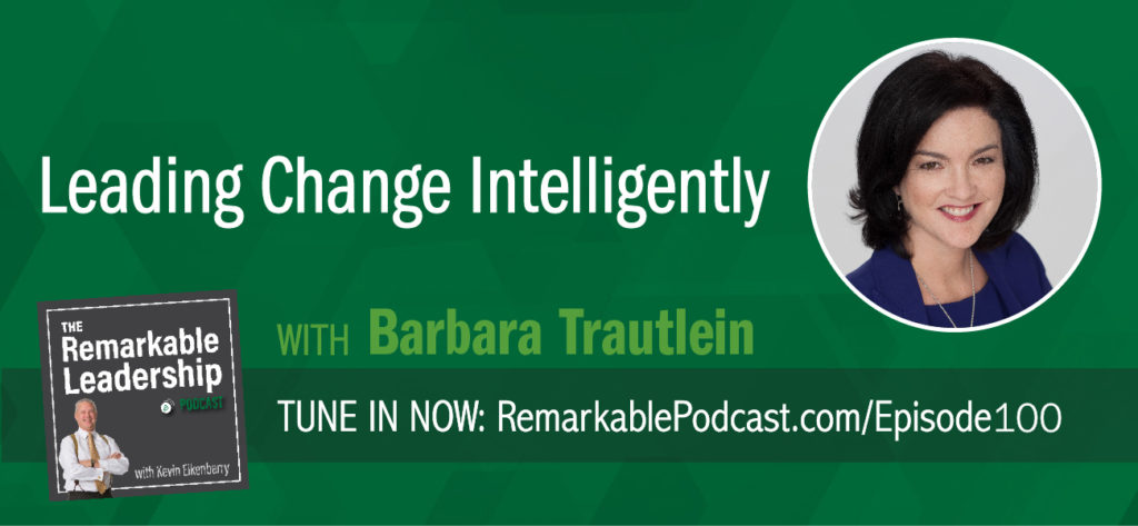 Research has shown that the same receptors fire in our brain when people are introduced to changes in social systems (like organizational change) as when we are in pain. It's no wonder that 65% of business fail at organizational change. Barbara Trautein, Ph.D. joins Kevin to discuss change intelligence. She recognized we have tools to manage change and tools to develop leaders. She also realized that we were missing the tools to develop change leadership. She is the author of the best-selling book Change Intelligence: Use the Power of CQ to Lead Change that Sticks and originator of the CQ System for Developing Change Intelligent Leaders and Organizations.