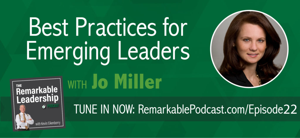 "Are you the best-kept secret in your organization? What does it take to be recognized as an emerging leader? In today's episode of the Remarkable Leadership podcast, CEO of Women's Leadership Coaching, Inc., Inc., founding editor of Be Leaderly, and author of the upcoming book, ""She's Got Clout: How to Become A Rising Woman of Influence,"" Jo Miller offers innovative tips and techniques that every up-and-coming leader needs to be successful and influential in any organization!"""