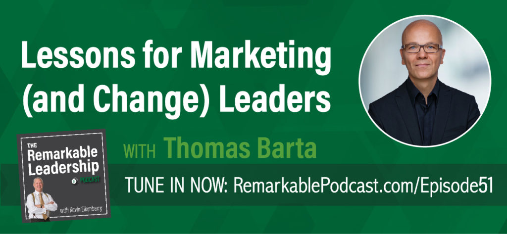 When it comes to leading an organization or a team, you need to be relevant. Thomas Barta, former McKinsey partner and senior marketer chats with Kevin about his recent book, The 12 Powers of a Marketing Leader. Thomas and his co-author, Patrick Barwise, conducted the largest ever global study of marketing leadership to answer the question: what makes an effective and successful marketing leader? This discussion and lessons learned can be applied regardless of your role in an organization.