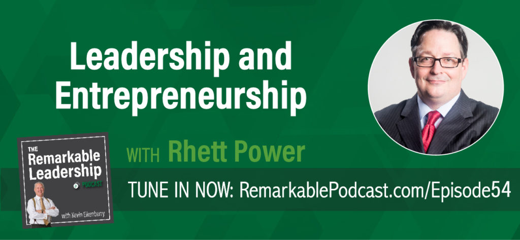 The Entrepreneur's Book of Actions breaks down actions leaders/entrepreneurs can take to make small daily changes for a big impact. Rhett Power, award-winning entrepreneur (Wild Creations), consultant, speaker and author joins Kevin to talk about his book and his leadership journey. He shares insights on working without capital and how to persevere through the not so great times.