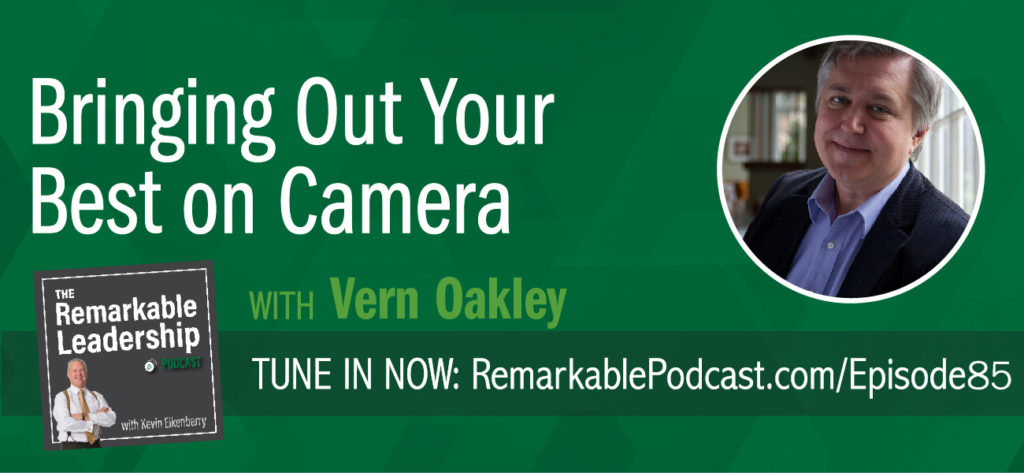 Statistics show we are moving to more video interactions, both personal (social media) and professional (remote working). Vern Oakley, author of LEADERSHIP IN FOCUS: Bringing Out Your Best On Camera and veteran filmmaker, joins Kevin to discuss and provide advice to leaders so that they express their authenticity on camera. This is a skill any leader needs to embrace and learn so they can inspire and influence without the immediate feedback.