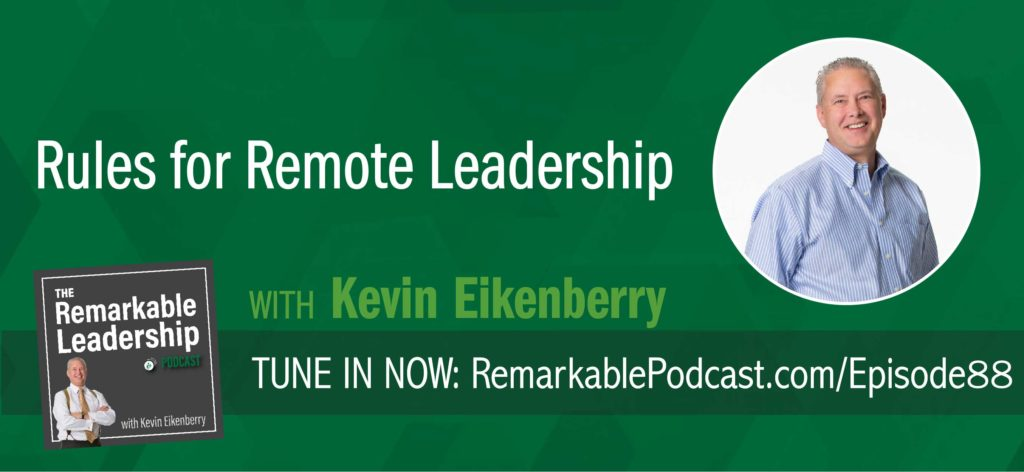 Leading from a distance can seem difficult, yet it is still about leadership, and the principles of leadership haven't changed—they are principles. In this episode, Kevin is in the visitor's seat to talk about the opportunities and challenges with leading a remote team. He gives us a preview into The Long-Distance Leader, scheduled for a June 2018 release and shares some takeaways we can implement today.