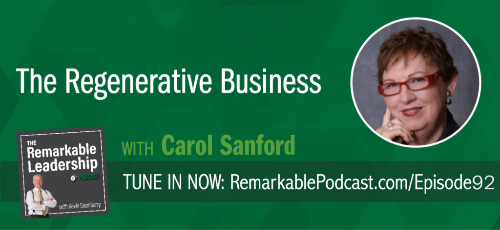 Managing people is complex, amazing and messy. Carol Sanford challenges they way we think about leadership and best practices. She is the author of several books, including her latest, The Regenerative Business, which shifts our way of working so that we see innovation, financial gain, and customer loyalty while building human capacity. She tasks leaders to questions build educational infrastructure to focus on reflection.