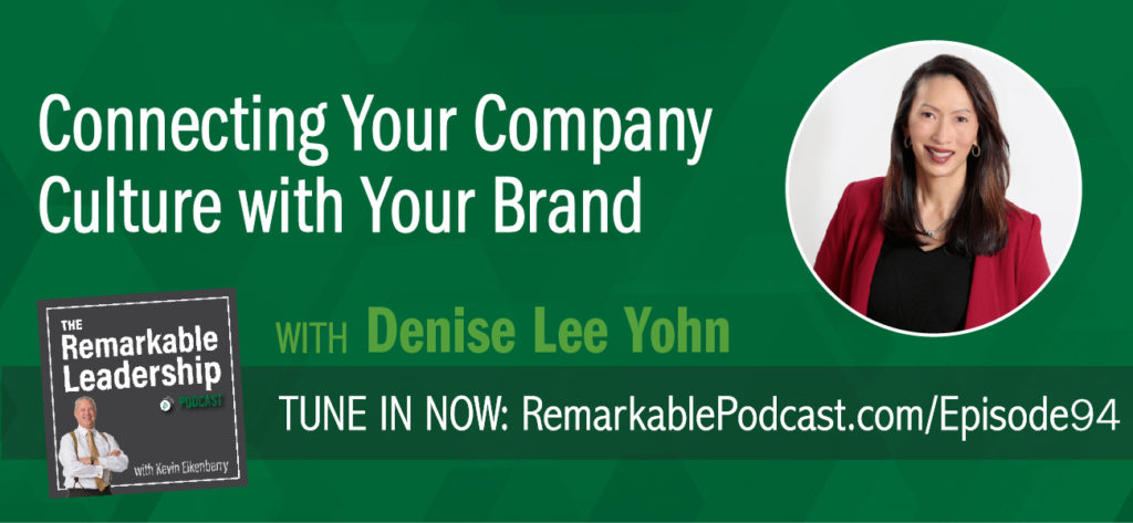 Organizational culture is almost becoming cliché. Yet, culture is vital to both employee and customer experiences. Brand expert Denise Lee Yohn and author of Fusion: How Integrating Brand and Culture Powers the World's Greatest Companies shares insight to building a culture unique to you and aligning that culture with your brand. You need to connect the internal view (what it's like to work here) with the external view (how people see you).