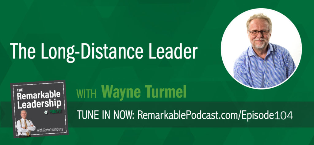 You are not alone if you are feeling overwhelmed by the changing workplace. Not only do we have more generations working side by side, we also have colleagues working a time zone away. Wayne Turmel, Kevin's co-author of The Long-Distance Leader, joins Kevin to dig deeper into the book and share his thoughts about remote leadership. Results from their research suggested that 60% of managers feel like they don't know what they are doing when it comes to remote working. Yes, the work is getting done and at what cost? Because we can't rely on real-time, face-to-face communication when people work from home or the other side of the world, leaders need to change how they think, act and communicate