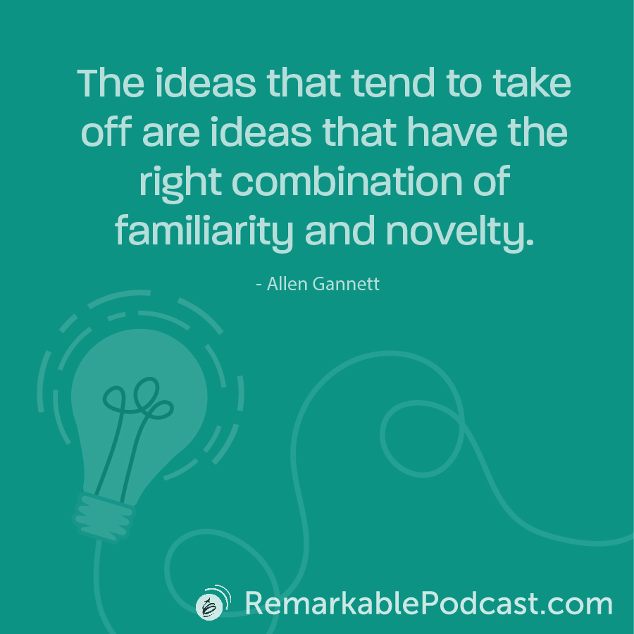 The ideas that tend to take off are ideas that have the right combination of familiarity and novelty.