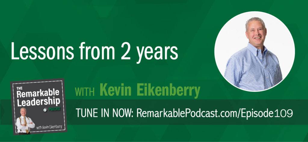 Reflection is an important part of moving forward. Host Kevin Eikenberry is in the guest seat today to 'reflect' on two years of podcasts. He shares information for want-to-be podcasters, technology challenges (we've all had them) and guests he would like to have. Further, he touches on the evolution of his questions and segments, and the action items he has taken from the past 100+ guests.  Kevin's book recommendation for this episode is to go back to any previous guest and read what they are reading.