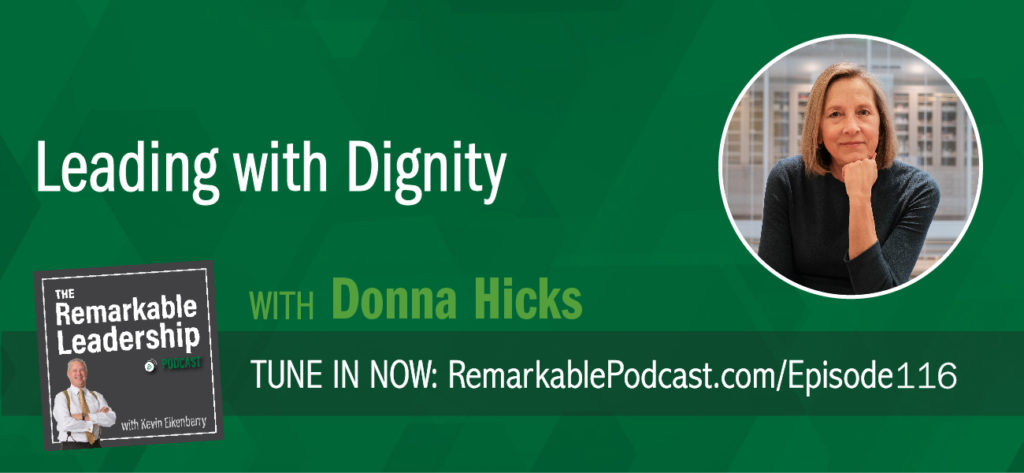 Donna Hicks, author of Leading with Dignity: How to Create a Culture That Brings Out the Best in People joins Kevin to discuss the role of dignity in leadership, relationships, and negotiations. Donna was at the table at many conflict discussions, including Israel/Palestine and Northern Ireland. What she found was that there was another conversation at the table that was non-verbal and emotional. She shares with Kevin that few of us understand the role dignity plays in leadership and when we don't respect dignity, there are trust and conflict issues. Leaders need to walk the talk and we all need to understand how vulnerable we are.