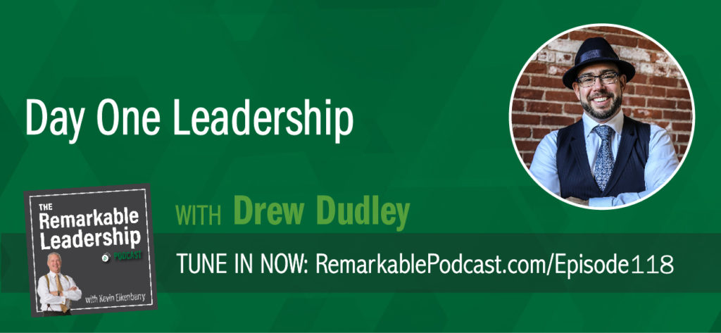 Drew Dudley believes we should consciously create moments of leadership. He is the founder of Day One Leadership and author of This Is Day One: A Practical Guide To Leadership That Matters. Drew joins Kevin to talk about leadership and personal growth. We need to celebrate moments of compassion and generosity every day; not just look at leadership in blocks of time. Regardless of your role, leadership moments happen all the time and begin at the same place for everyone, Day One.