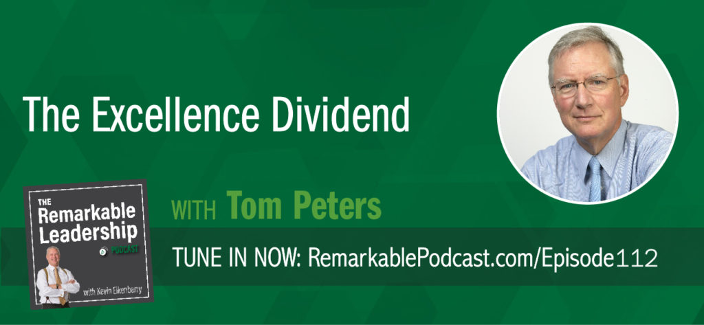 Tom Peters is known for many things, including being one of today's greatest business minds. His first book, In Search of Excellence: Lessons from America's Best-Run Companies (with Robert Waterman) was published in 1982 and may be considered the beginning of business books. Today he joins Kevin to share stories from his journey over the past 36 years and how we can use that information today. Further, he discusses his latest book, The Excellence Dividend: Meeting the Tech Tide with Work That Wows and Jobs That Last. AI is everywhere and Tom suggests that nothing will beat a dedicated workforce and a commitment to high-quality service or products.