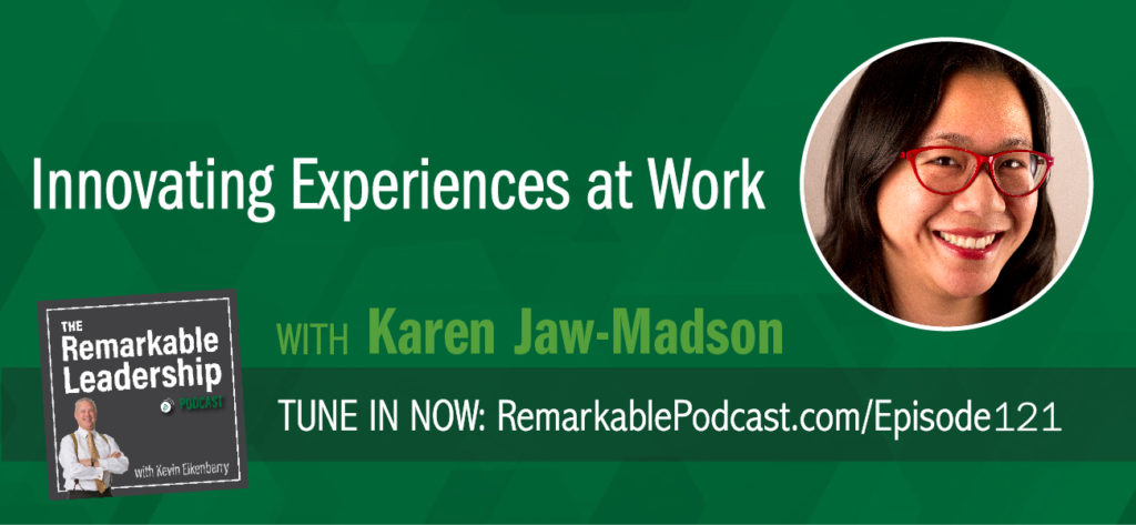 Culture. Is it the current buzzword? How important is it to your organization? Karen Jaw-Madson is the principal of Co.-Design of Work Experience and author of Culture Your Culture: Innovating Experiences @Work. She was frustrated by all the talk surrounding the importance of culture yet found that most organizations did not have an intentional process to create their culture. She shares with Kevin the journey to create the book and how she purposely did not want it filled with case studies. She explains the Design of Work Experience and through this framework leaders, teams, and employees across the board can create a culture to fit their context.