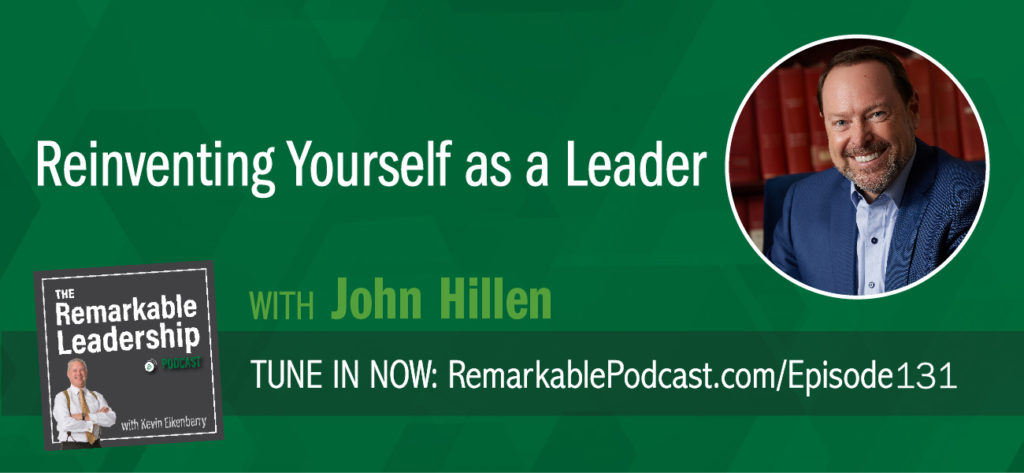 Most organizations are trying to grow and change, yet don't build their leadership to grow and change. You need to know what you need to do to make your team successful and that might not be what you did yesterday. Dr. John Hillen is a leadership and strategy professor in the School of Business at George Mason University and the co-author of What Happens Now? Reinvent Yourself as a Leader Before Your Business Outruns You. John and Kevin talk about the importance of not letting the growth of an organization outgrow your leadership skills. Leaders will stall, and the failure is not recognizing that you need to reinvent yourself and reinvest in new skills, behaviors, and mindsets for a changed organization and higher level of performance.