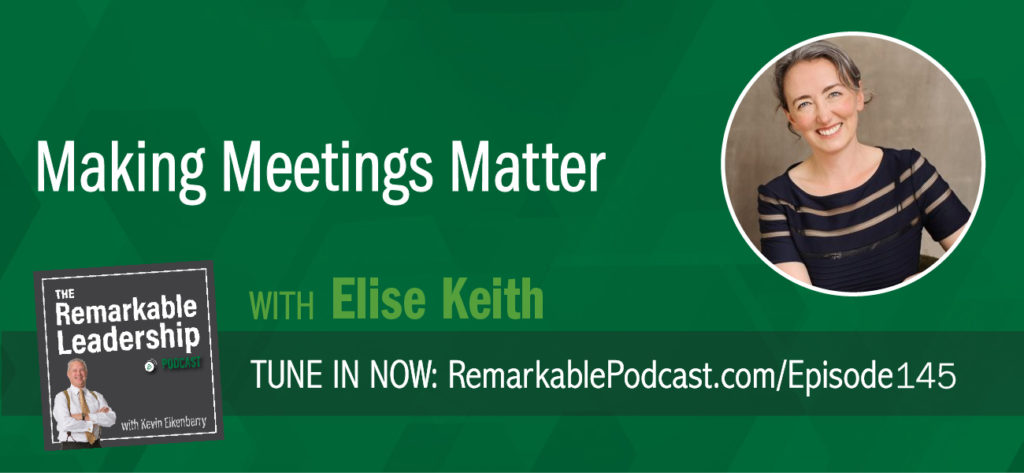 Have you ever hoped for a root canal appointment (insert another unpleasant task) to get you out of a meeting? Elise Keith is the founder and Meeting Maven for Lucid Meetings. In short, she is looking for the best ways to make it easy for people to enjoy meetings that get work done. She joins Kevin to discuss her book, Where the Action Is: The Meetings That Make or Break Your Organization. She believes that when you change the meeting, you change everything else. Elsie emphasizes that the whole point of a meeting is to gather people for a purpose and shares different meeting types to help us get to the why.
