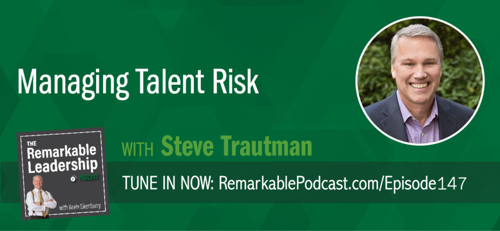 Leaders at all levels in an organization manage most business risks daily. Steve Trautman joins Kevin to talk about how you can manage talent risk, which is critical in today's employment environment. Steve is the author of Do You Have WHO It Takes: Managing Talent Risk in a High Stakes Technical Workforce. He and Kevin talk about ideas for every level of an organization (including the corporate board) to manage talent risk with hard data. He debunks some common talent myths and feedback to encourage the right types of learning in the workplace.