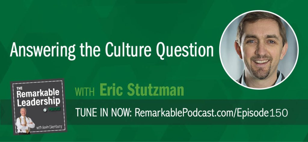 Many organizations are not thinking of how their culture can move them forward. Not only do you need to think about how to create your culture, but you also need to own it. Eric Stutzman is a co-author of The Culture Question: How to Create a Workplace Where People Like to Work. The book includes survey feedback from over 2,400 leaders and employees. Kevin and Eric talk about some of these findings, such as there is a direct correlation between leaders communicating with purpose AND in meaningful ways and people feeling like they have a great workplace. In order to create meaningful work, there need to be intentional conversations about progress. Further, how and when a leader should respond to conflict.