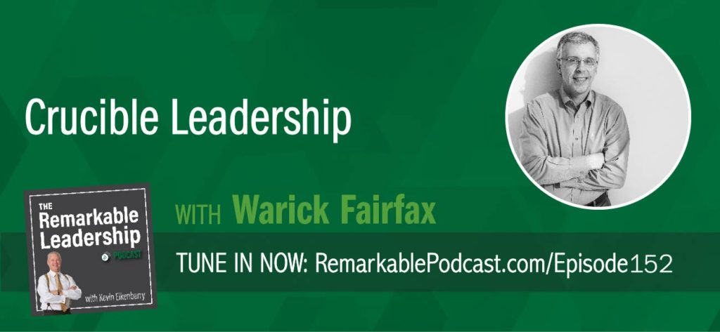 "There are mistakes and there is epic failure. Warwick Fairfax identifies with the latter and joins Kevin to discuss leadership and moving beyond failure. Warwick is a leadership advisor and founded Crucible Leadership from his own experience of ""one of the most spectacular business failures in the history of his home nation of Australia."" First and foremost, start with forgiveness either of yourself or someone else. Examine your true self, not negative or positive, but who you really are. What are your strengths? What is your passion? Use this reflection to recognize, learn from and move forward. When leading your team, believe in your vision and create buy-in."