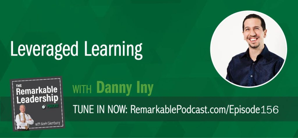 "What does education need to do to produce people who can contribute at work and are successful? Danny Iny, the author of Leveraged Learning, chats with Kevin about that topic and what that means for leaders and teams today. Danny believes we are shifting from a ""just in case"" mindset to learning to a ""just in time"" mindset. The pace of change is rapid and to stay relevant, we need to continue to learn in bite-sized chunks. As leaders, we need to recognize we are working from a lagging scorecard and need to go in and learn, develop our team, and move forward."