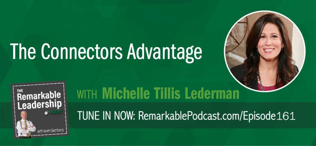 Studies show that 92% of people trust referrals and you are four times more likely to buy from someone who was referred. This makes sense to Michelle Tillis Lederman, author of The Connector's Advantage: 7 Mindsets to Grow Your Influence and Impact. In her early career, she realized that relationships are critical to your success, health, and happiness. However, this isn't all about the warm fuzzies. Connectors have a certain way of thinking and acting that enables stronger connections. Building that skill can get us to faster, easier, and better. Michelle shares with Kevin that when leaders focus on building connections, relationships and loyalty with their teams, they impact the bottom line
