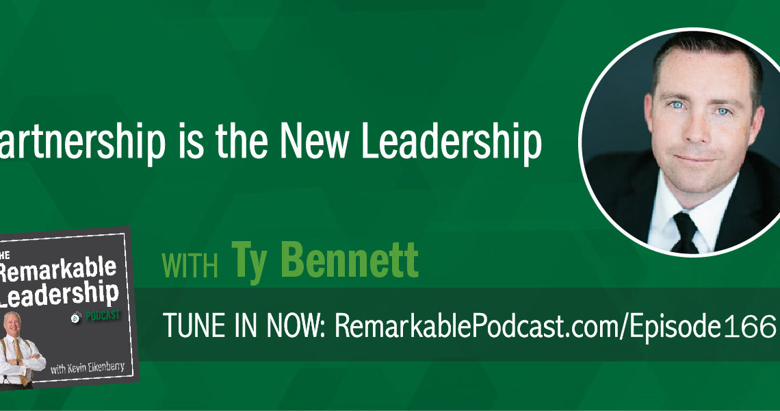 The workplace is changing; it's the technology, it's the location, it's the diversity of the people. So, if we know the workplace is changing, we need to be thinking about how we change our leadership. Ty Bennett is an author and founder of Leadership Inc. Today he sits down with Kevin to discuss his most recent book, Partnership Is the New Leadership. Ty believes that we can no longer rely on leading from a place of authority or title. By showing up as a partner with our team, they will show up for you. This means a direct result to the bottom line. Ty shares his thoughts about the balance between care and candor and looks at commitment.