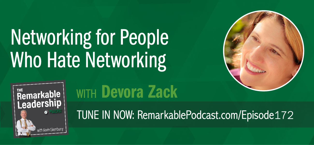 Picture a conference or a large meet and greet situation. How do you feel? Some of us are excited about all the new people we will meet. Others of us, let's just say a root canal sounds like a good alternative. Devora Zack is the author of Networking for People Who Hate to Network. She joins Kevin to look at real networking. It really is about building mutually beneficial connections and we all have a different way of getting there; whether we identify as an introvert or an extrovert. Devora suggests we find our primary temperament and let that work for us, rather than against us and customize the networking to our advantage.