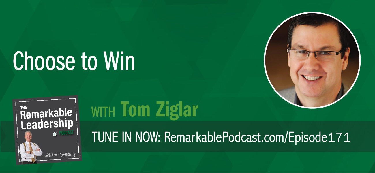 "Tom Ziglar joins Kevin to talk about his new book Choose to Win: Transform Your Life, One Simple Choice at a Time, and yes, the name sounds familiar. Tom is the son of Zig Ziglar and joined his dad's company in the warehouse, to sales, to management, and then on to leadership. Tom is proud of his dad's legacy and carries on the Ziglar philosophy, ""You can have everything in life you want if you will just help enough other people get what they want."" In his latest book, he builds upon those lessons and discusses how we can find our ""why"" make simple choices in our lives to build better habits, leading to greater success."