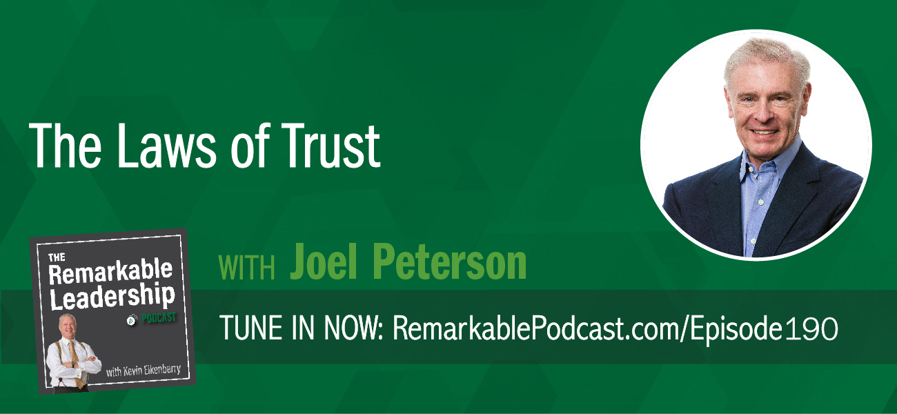 We currently live in a low trust culture. And we know trust is important for leaders, in good times and in times of stress, disruption, and turn-around. Kevin is joined by Joel Peterson, Chairman of JetBlue Airways, Founding Partner of Peterson Partners, and author of The 10 Laws of Trust. Joel shares some of those laws of trust and understands that organizations succeed when leaders and colleagues trust each other. Instead of worrying about micromanaging, jealousy, and office politics, teams are more creative and have a positive impact on the bottom line.